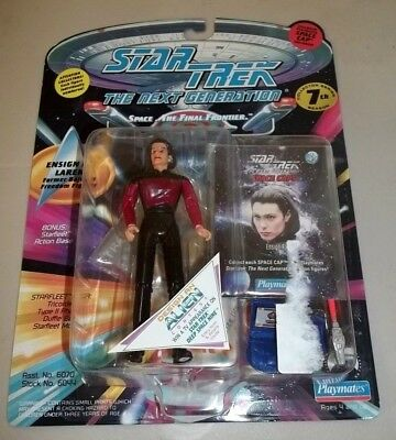 """1994 Star Trek Tng Playmates 5"""" Ensign Ro With Space Caps Figure - Rippling"""