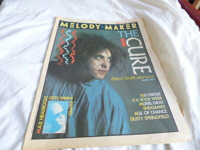 Melody Maker - 17/8/85, The Cure / Dusty Springfield / Primal Scream / Engames