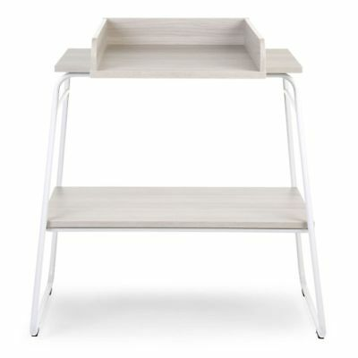 CHILDWOOD Baby Changing Table with Storage Shelf Wood Ashen and White CHTAWH
