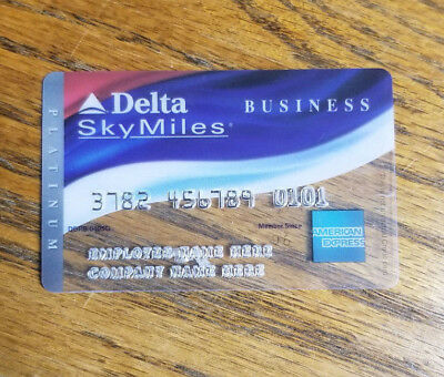 American Express Delta SkyMiles Collectible Card - Plastic