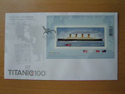 Canada Post - Day of Issue - TITANIC 100 - 1912-2012 - 05.04.2012 Halifax - NEU