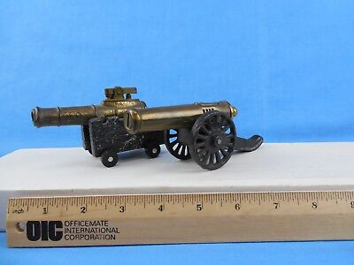 """2 - Vintage Fluid Type Cannon Lighters - One Is 4"""" = Gd. & Other Is 6"""" = Exc."""