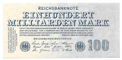 Berlin - Reichsbankdirektorium - 100 Milliarden Mark - 26.10.1923