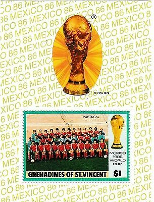 Mexico 86 World Cup Unused/uncut Football Stamp>Portugal Team Group