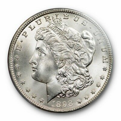 1898 O $1 Morgan Dollar PCGS MS 66 Uncirculated Blast White Exceptional Coin !