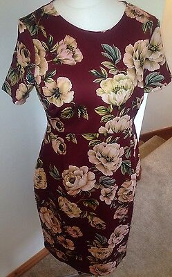 ASOS Maternity Floral Midi Dress Size 16 RRP £45 Wedding Spring Summer Party