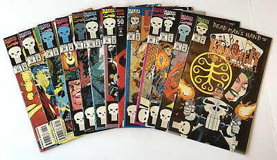 The PUNISHER WAR JOURNAL 45-57 Complete Run Lot of 13 FNVF Daredevil Ghost Rider