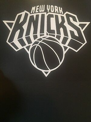 online store aad74 70935 New York Knicks Nba White Vinyl Sticker   Decal