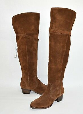 fa6eb7827a7 FRYE CLARA TASSEL Over The Knee Boot Stretch Back Flat Bootie 10 ...