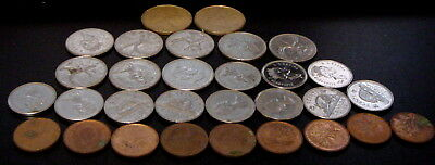Bulk Lot of 31 Circulated Assorted Canadian Coins - mixed denomination Canada