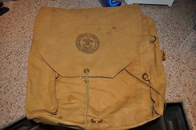 Vintage Boy Scouts of America Back Pack (Haversack) Named Maximilian