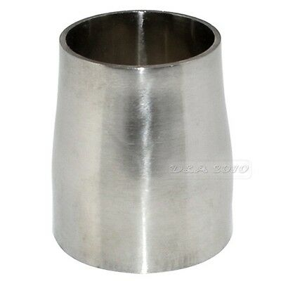 """New 38MM to 32MM 1.5""""to1.25"""" Sanitary Weld Reducer SS316 SUS316 Stainless Steel"""