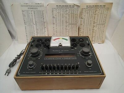 Vintage 1950's  Heathkit TC-2 Vacuum Tube Tester With Charts Wood Case