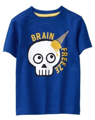 NWT Gymboree Jump into Summer Boys Brain Freeze Blue Shirt Size 12-18 M