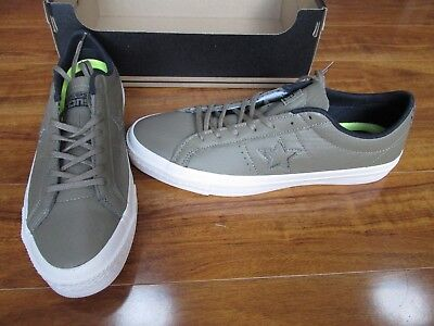 NEW CONVERSE CONS One Star Leather Ox Shoes MENS size 12 Jute Green 153707C $90.