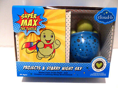 Cloud B Supermax The Turtle Night Light, Blue - New in the Box