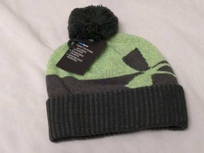 432e57cb4af UNDER ARMOUR BOYS 8-20 Moisture-Wicking Winter Pom Beanie Gray Hat Cap  25  New -  9.75