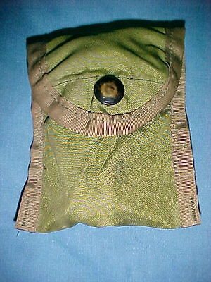 Two Usgi Military Olive Drab Nylon Compass / First Aid / Medical Case / Pouch