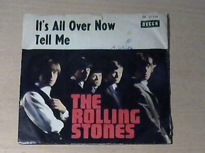 """7"""" THE ROLLING STONES * It`s All Over Now / Tell Me (DECCA DL 25144)"""