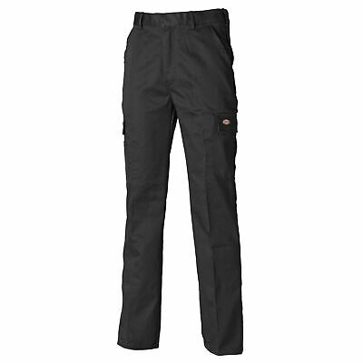 Dickies Mechanics Redhawk Chino Polyester / Cotton Trousers Black Size 30 Short
