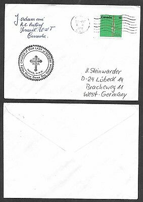 1972 Canada Arctic Cover - N.W.T. - Inuvik - Church of Our Lady of Victory