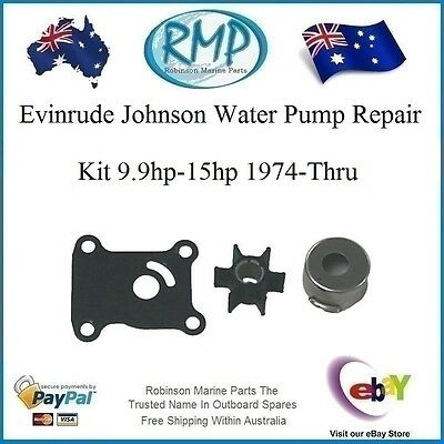 A New Water Pump Kit Evinrude Johnson 1974-thru-2013  9.9hp-15hp R 391698