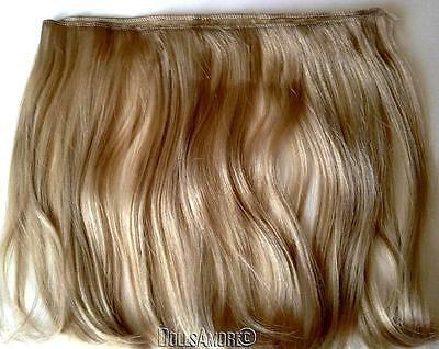 2 Long Wavy Blonde Synthetic Doll Hair Weft