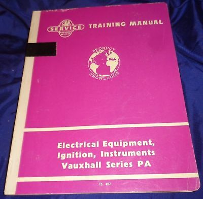 AM082 1959 Vauxhall Series PA Electrical Equipment Ignition Instruments Manual