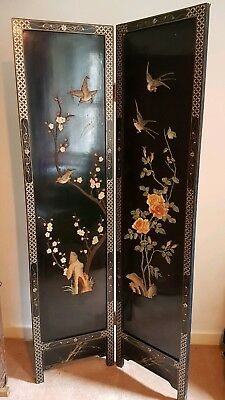 Stunning Chinese Lacquer Style Wooden Screen - COLLECTION ONLY from Bristol BS6
