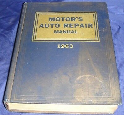 BG381 Vtg Motor's Auto Repair Shop Manual 26th Edition Covers 1953 - 1963 Models