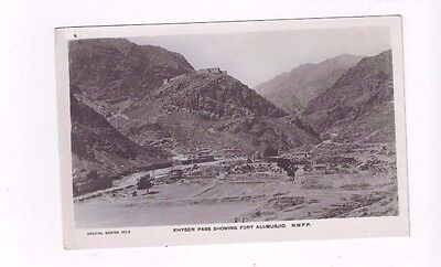 PAKISTAN antique photo post card Khyber Pass showing Fort Ali-Musjid NWFP