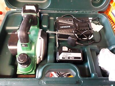 Hitachi P18DSL 18V Cordless Planer with 2 x 5.0Ah Lithium Batteries Used once