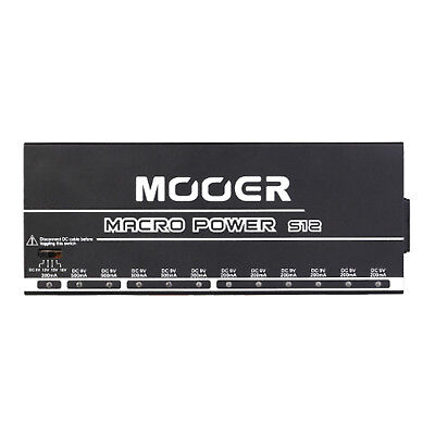 Mooer Macro Power S12 Isolated Professional Guitar Pedalboard Power Supply