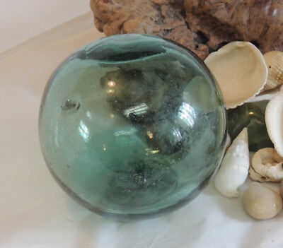 """13"""" In Circumference Japanese Glass Fishing Float MADE IN JAPAN Mark (#13)"""