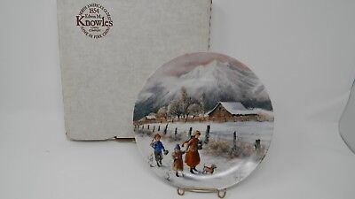 """""""Hand In Hand"""" Knowles Collector Plate- By Mimi Jobe-1991"""