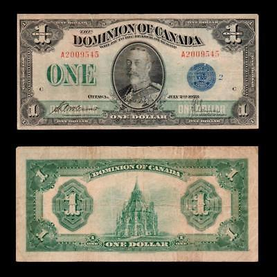 1923 Dominion Of Canada (Kg V),  $1 Large ~Blue Seal~ X. Rare