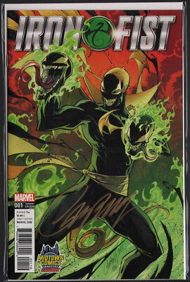 J Scott Campbell SIGNED Iron Fist #1 EXCLUSIVE VARIANT Cover Art w/ COA ~ Venom
