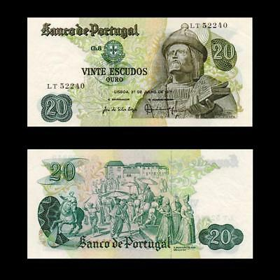 1971 Portugal , 20 Escudos - » Best Note «