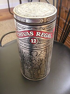 Chivas Regal 12 Empty Decorative Tin