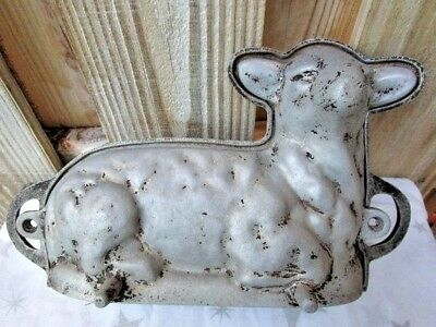 Antique Cast Iron Lamb Mold for Chocolate and Baking 2 piece metal early 1900s