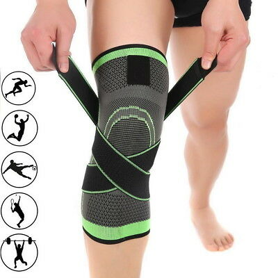 3D Weaving Knee Brace Breathable Support Running Jogging Sports Joint Pain M-XL