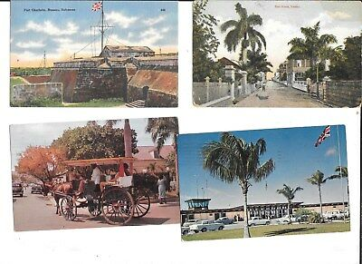 11 BAHAMAS POSTCARDS standard size 7 mailed w nice stamps