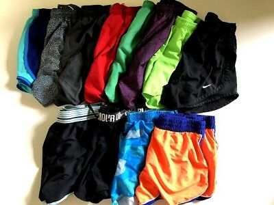 nike and under armour sport shorts 12 item lot