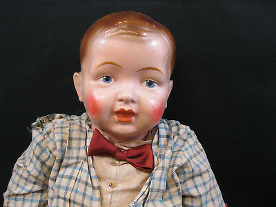 """LARGE 31"""" ANTIQUE COMPOSITION HEAD ELEKTRA BOY DOLL ! EARLY 1900s! ALL ORIGINAL!"""