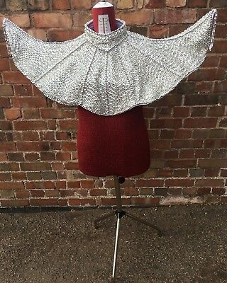 Professional Pantomime Silver Sequined Aladdin Collar