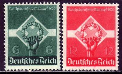 THIRD REICH 1935 mint National Occupation Competition stamp set!