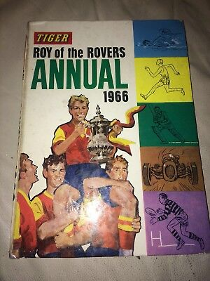 "Vintage "" Tiger Roy Of The Rovers "" Annual 1966 Unclipped"