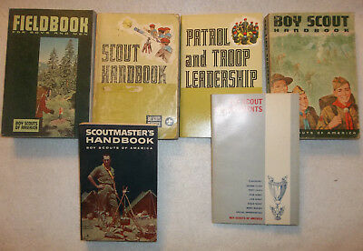 Vintage Boy Scouts of America book lot Scoutmaster Field book leadership Troop