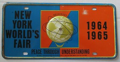 1965 NEW YORK WORLD'S FAIR BOOSTER License Plate NICE QUALITY
