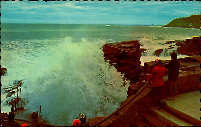 Postcard Thunder Hole Acadia National Park Bar Harbor Maine Chrome Unused